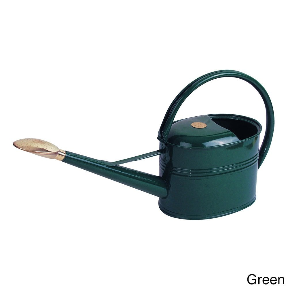 Haws English Garden Slimcan 1.3-gallon Galvanized Metal Watering Can Green