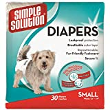 Simple Solution Disposable Dog Diapers, Small, 30 Count