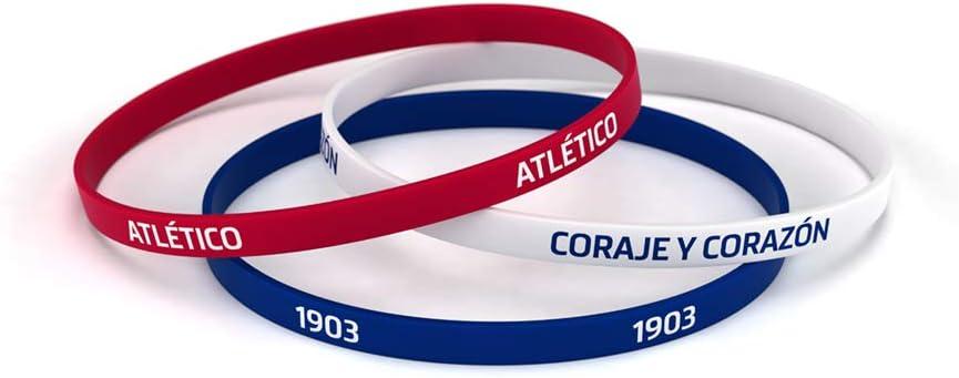 Atlético de Madrid Pulsera Classic Tricolor Estándar para Hombre | Pulsera de Silicona | Apoya Producto Oficial Colchonero | ATM: Amazon.es: Deportes y aire libre