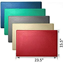 "Mr. Peanut's Large Pet Food Mat, Premium FDA Food Grade Silicone, BPA Free, 24"" X 16"" Flexible and Easy to Clean Feeding Mat, Protects Your Floors from Food and Water Spills (Berry Red)"