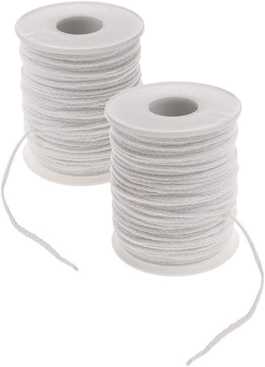 Mecha de algodón Natural de 1 mm con núcleo de 61 m/Bobina de ...