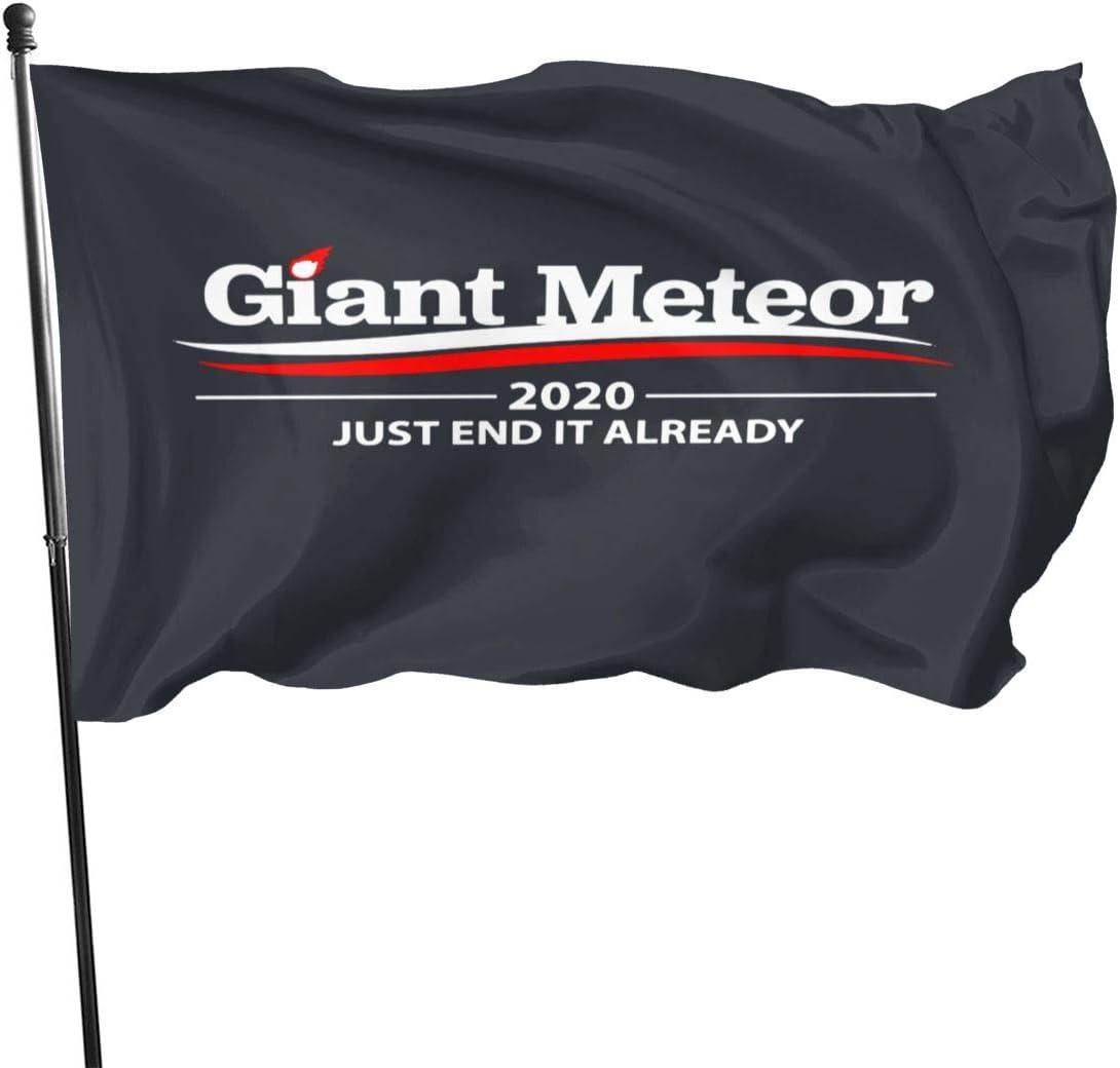QQQQW Giant Meteor 2020 Outdoor Flag Home Garden Flag Banner Flag USA Flag Decorative Flag 3x5 Ft Flag