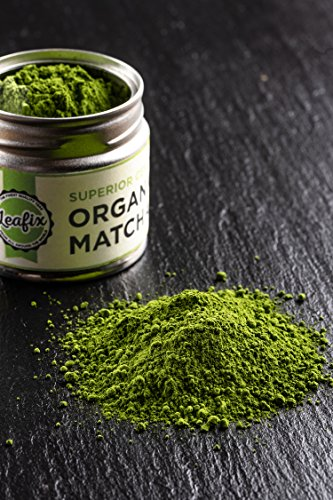 Leafix Matcha Green Tea Powder - USDA Organic - Ceremonial Grade - Product of Japan - Kosher - Superior & Premium Quality [30g / 1oz Tin]