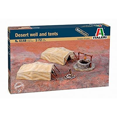 Italeri 1:72 - Desert Well And Tents: Toys & Games