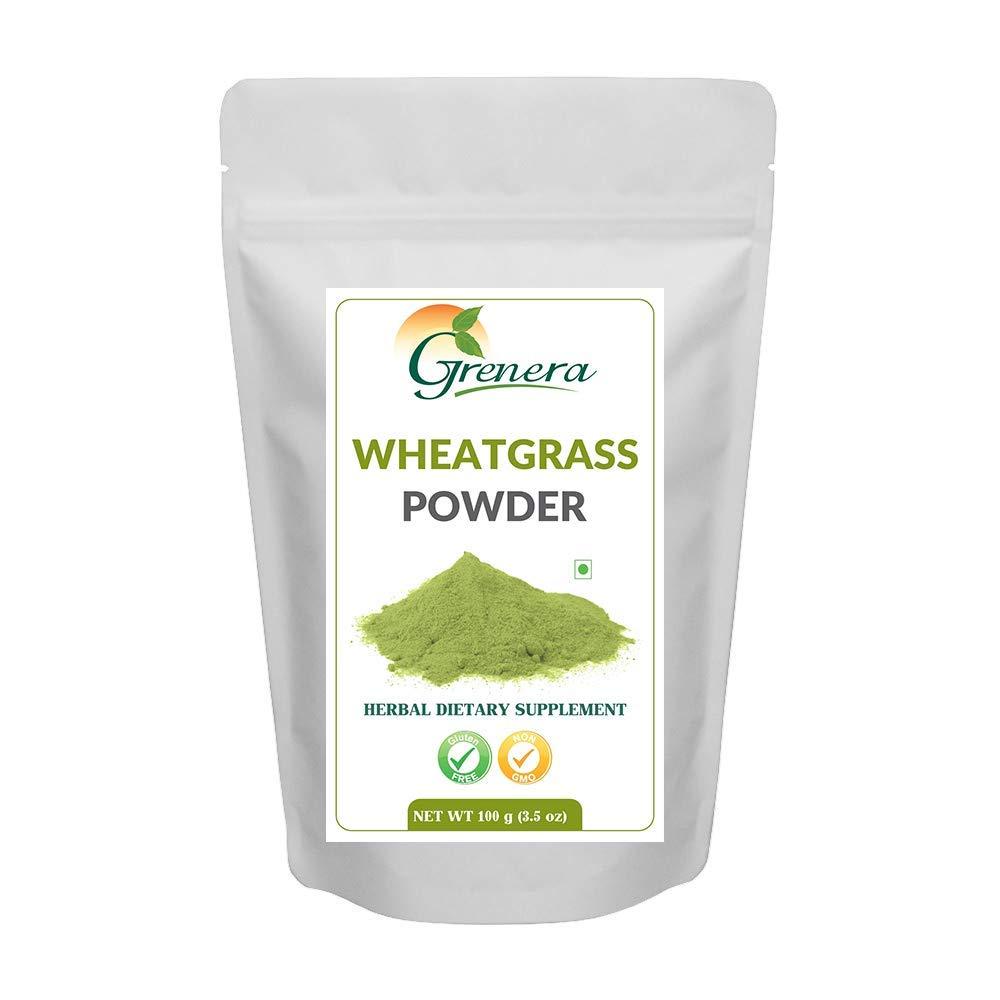 Grenera Polvo orgánico de Wheatgrass - 100 gramos, pasto de ...