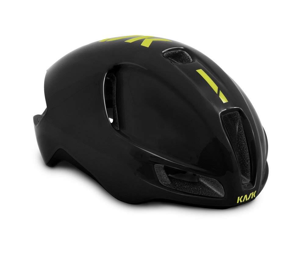 KASK(カスク) ヘルメット UTOPIA BLK/YEL FLUO M 52-58   B07KRDJNB6
