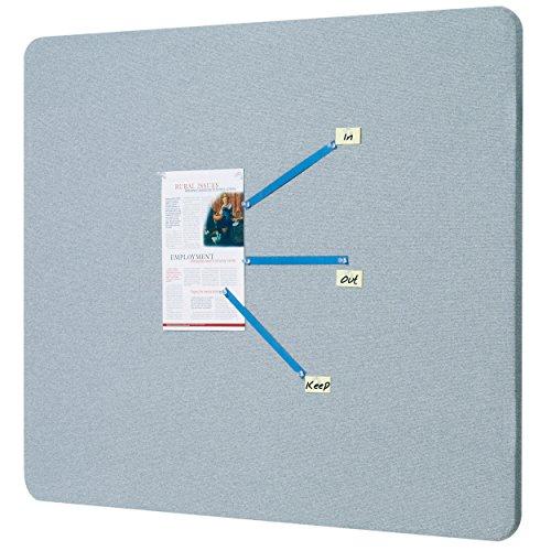 Quartet Fabric Bulletin Board, 4' x 3', Frameless, Oval Office, Gray (7684G)