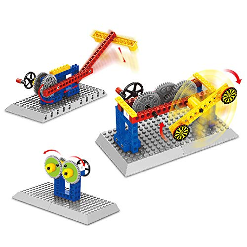 varibasu Mechanical Gears, Building Blocks Educational Toys Set, Brain Game, Engineering Building Blocks, Plastic Toys, Dynamic Principle, Children Science Construction Machinery 3 in 1 (Shooting mac (Clown Shooting Target)