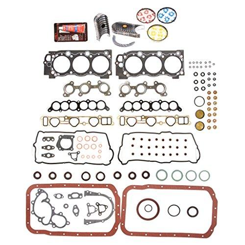 Evergreen Engine Rering Kit FSBRR2034EVE\0\0\0 95-04 Toyota 4Runner Tacoma 5VZFE Full Gasket Set, Standard Size Main Rod Bearings, Standard Size Piston (Toyota Piston Ring Set)