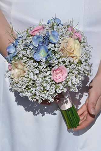 Azul De Hortensia Rosas Y Blanco Gipsófila Para Arreglos