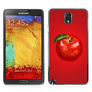 Designer Depo Hard Protection Case for Samsung Galaxy Note 3 N9000 / Beautiful Red APPLE