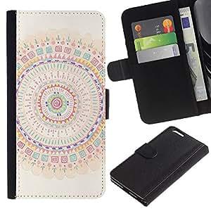 Mandala Arte colorido Espiritual- la tarjeta de Crédito Slots PU Funda de cuero Monedero caso cubierta de piel Para Apple (5.5 inches!!!) iPhone 6+ Plus / 6S+ Plus