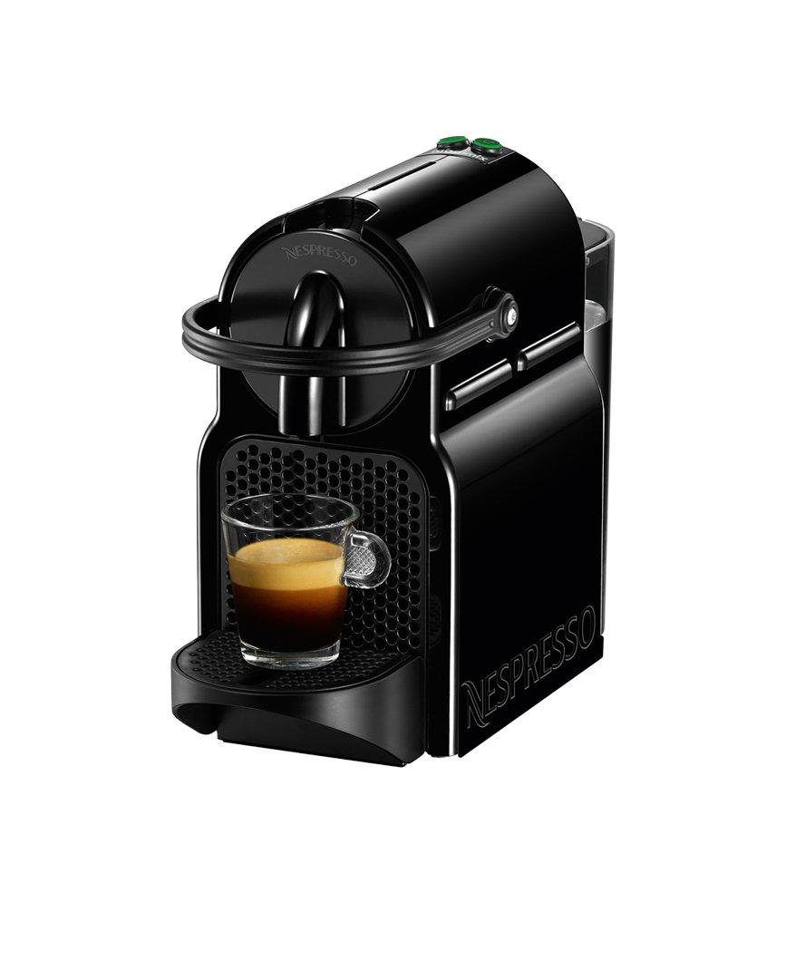 Cafetière Nespresso Inissia D40 (indépendant Noir Espresso machine Capsules de Café Espresso Lungo 0, 7L)