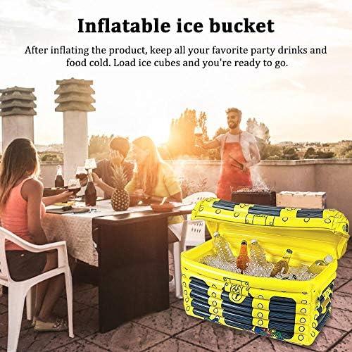 Im Freien aufblasbarer zusammenklappbarer aufblasbarer Eiskübel, Schatzkiste Eiskübel Blow Up Bars Eisbuffet, Weinkühler Kühler für Schwimmbad Party