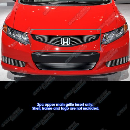 Honda Civic Billet Grilles - APS Fits 2012 Honda Civic Coupe/Si Model Only Billet Grille Grill Insert #H66968A