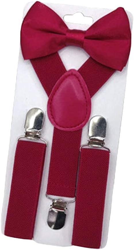 Zhongke Kids Cute Gentlement Set Tirantes corbata de lazo ...