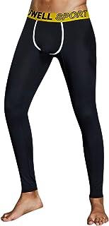 FRAUIT Compression Leggings Uomo Pantaloni Elegante Elasticizzati Pantaloni da Allenamento e Leggins Pantaloni da Bodybuilding Pantaloni da Jogging Uomo Sportivi Fitness Slim Fit Allenamento