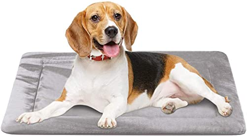 JoicyCo Dog Bed Crate Pad Mat 35 42 47 Washable Pet Bed Cat Beds Soft Dog Mattress- Anti-Slip Kennel Pad Luxury Color