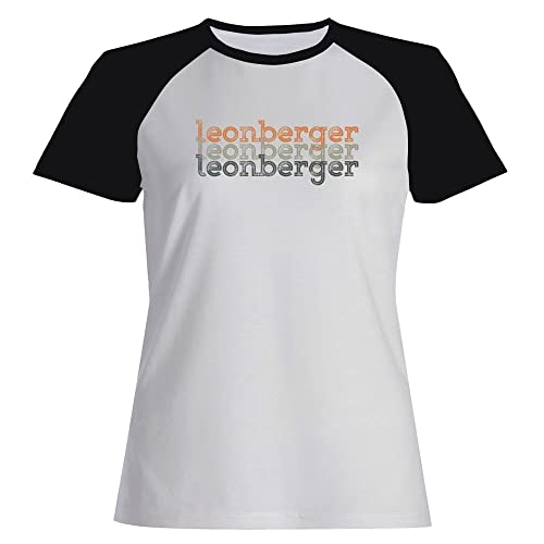 Idakoos Leonberger repeat retro - Cani - Maglietta Raglan Donna