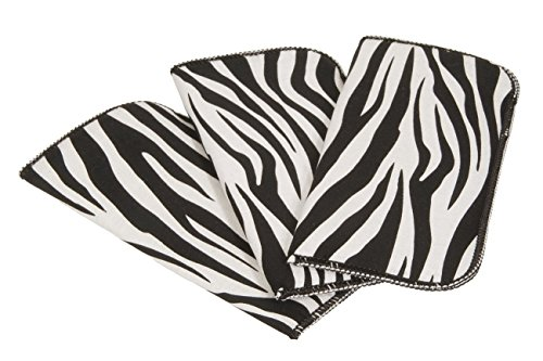 3 Pack Zebra Print Fabric Soft Eyeglass Cases for Women, Fits Medium Frames (Zebra Print Glasses)
