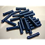 100 pack blue vinyl insulated 16-14 AWG butt wire splice crimp connector