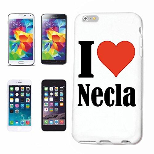 """Handyhülle iPhone 4 / 4S """"I Love Necla"""" Hardcase Schutzhülle Handycover Smart Cover für Apple iPhone … in Weiß … Schlank und schön, das ist unser HardCase. Das Case wird mit einem Klick auf deinem Sma"""