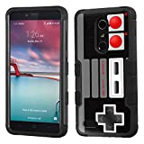 Cheap One Tough Shield 3-Layer Hybrid phone Case (Black/Black) for ZTE Max Duo 4G LTE / Imperial Max – (Game Controller)