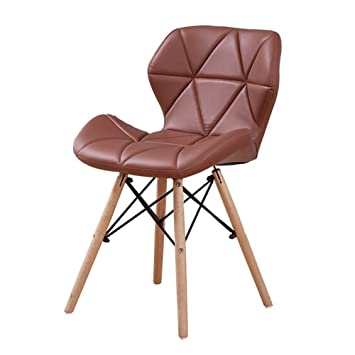 Eames Replica Faux Leather Dining Chair/Cafe Chair/Side Chair/Accent Chair (Tan) Color by Finch Fox