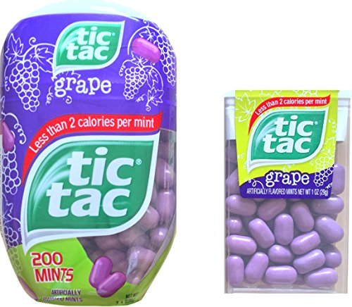 Tic Tacs Grape Flavored Mints with Tic Tacs Classic Container Grape Flavored Less Than 2 Calories Per Mint (Tic Tacs Grape compare prices)