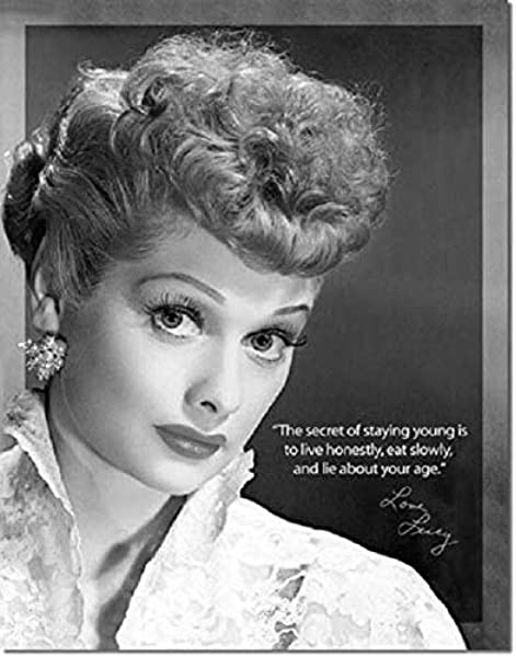 Amazon Com Srongmao I Love Lucy Inspirational Quote Retro Tv Show 1950039 S Wall Art Decor Metal Tin Sign 8x12in Home Kitchen