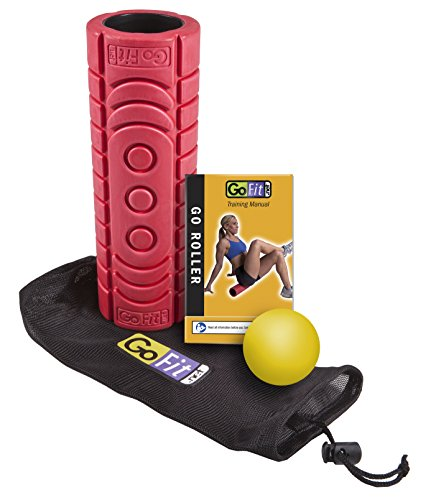 GoFit Go-Roller Travel Roller with Trigger Therapy Ball (Go Roller Travel)