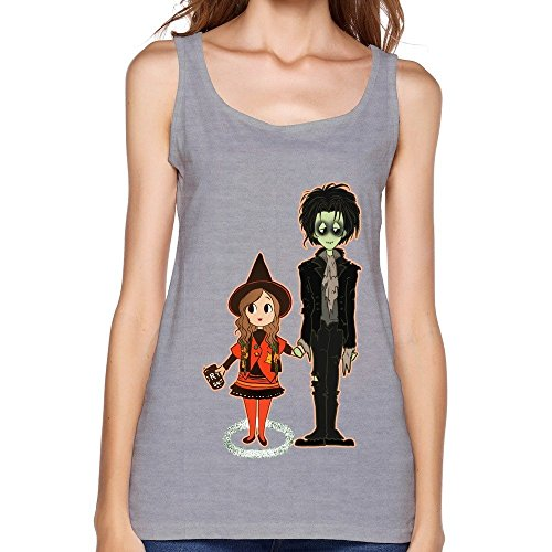 [Kazzar Women's Dani And Billy From Hocus Pocus Sleeveless Tank Top L] (Halloween Ideas For Couples)