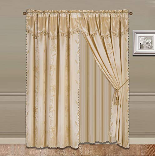 (Sapphire Home 2 Panel Window Curtain Set (120