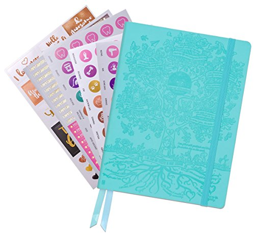 Law of Attraction Life Planner - Weekly & Monthly Planner to Increase Productivity & Happiness - Weekly Planner, Organizer & Gratitude Journal (Undated, Soft Turquoise) + Bonus Planner Stickers