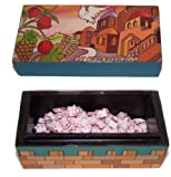 Jerusalem Hand painted Box with Rose Incense and Charcoal packet from Jerusalem