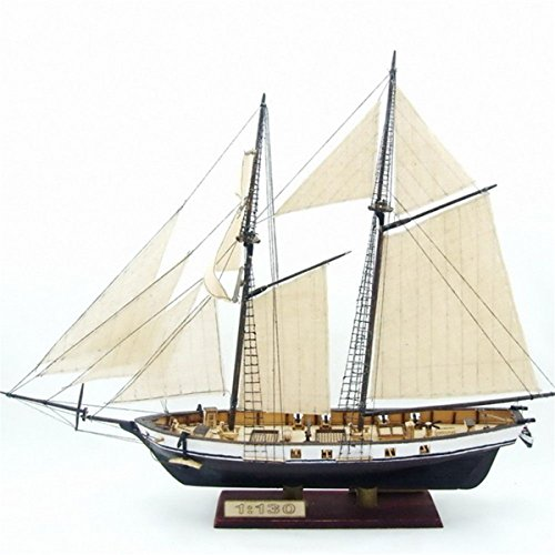 Ninth-City 15x5x10.6inch DIY Ship Assembly Model Kits Classical Wooden Sailing Boats Scale Model - Kits Model Wooden Build Boats To
