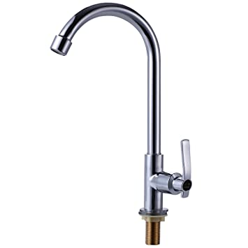 Easy Install Kitchen Faucet Deck Mount Full Copper Vertical Touch On Cold  Water Faucet Single Handle