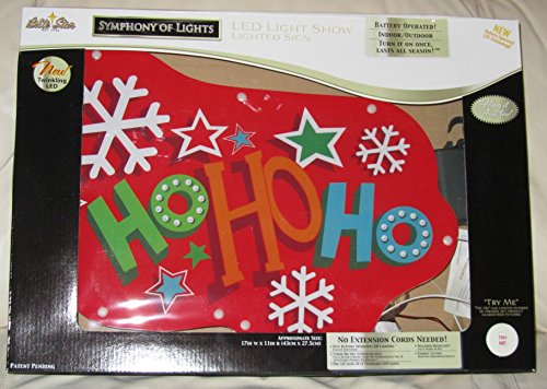 Brite Star Battery Operated LED Lighted Ho Show Sign Deco...
