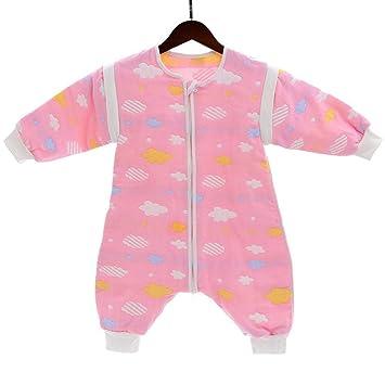 Gleecare Saco de Dormir del bebé, algodón con Pata Saco de Dormir de algodón bebé Desmontable Manga Anti Kick por Manga Larga Arrastre 0-3 años: Amazon.es: ...