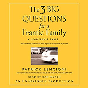 The Three Big Questions for the Frantic Family Hörbuch
