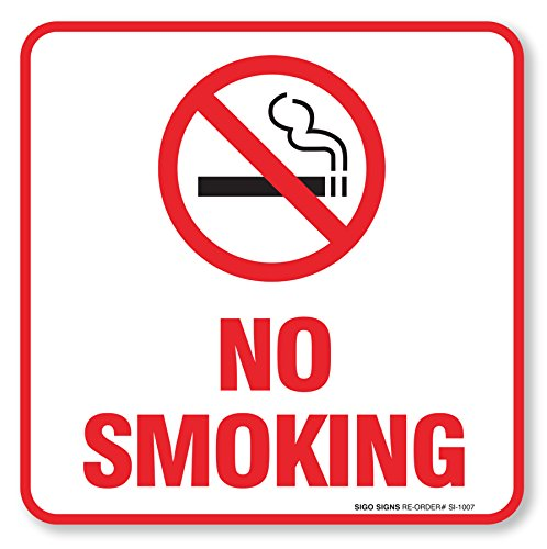 (4 Pack) No Smoking Sign
