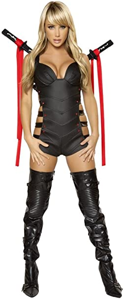 Amazon.com: Sexy Ninja Warrior Woman Halloween Costume: Clothing