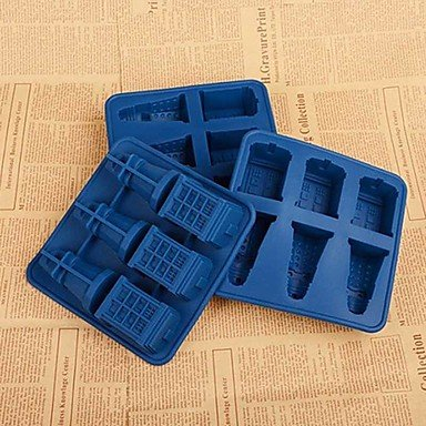 HJLHYL Doctor Who Cocktails Silicone Ice Cube Tray Candy Chocolate Baking Molds diy Bar Party Drink (Doctor Who Baking Mold)