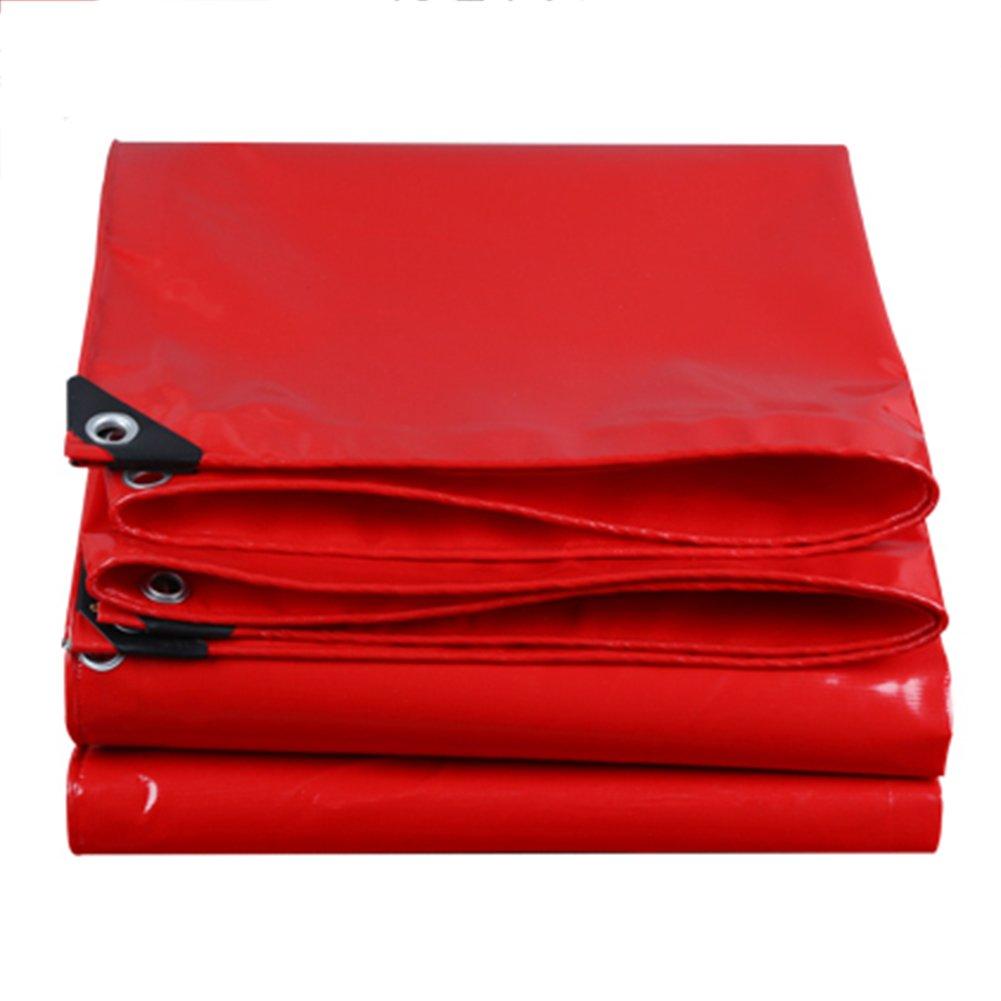 CHAOXIANG ターポリン 厚い 耐寒性 防水 ポンチョ リノリウム キャンバス PVC、 550G /㎡、 9サイズ (色 : Red, サイズ さいず : 3.8X4.8M) B07FZ62CCZ 3.8X4.8M|Red Red 3.8X4.8M