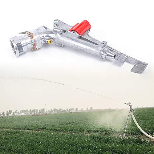 WUPYI Adjustable Sprinkler Gun Head 2 Inches,Irrigation Spray Gun Impact Spray Garden Sprinkler Agricultural Water-Saving Irrigation,Zinc Alloy