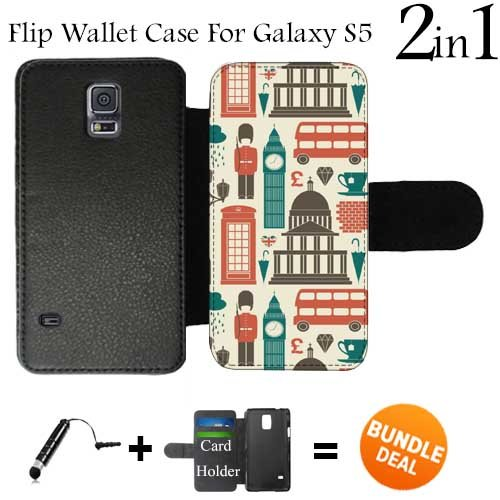 amazon com london scenes custom galaxy s5 cases flip wallet case