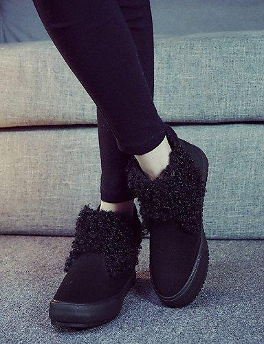 Neige La Uk6 Femme Noir Chaussures Extérieure Xzz us8 Cn39 Décontracté Mode Bottes Jaune À Bottine Eu39 De Rouge Plat Talon Confort Red 7RqZwRf
