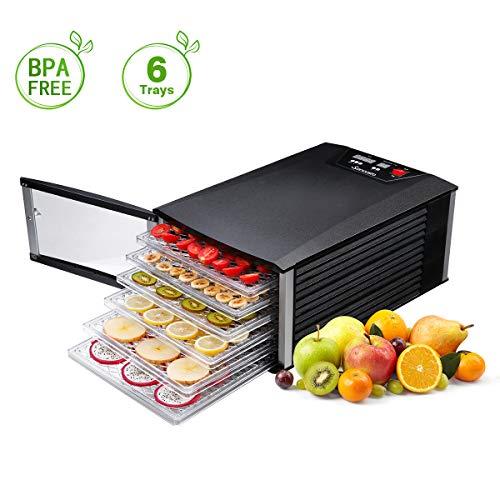 Food Dehydrator, Sancusto 6 Trays Professional Fruit Dryer M