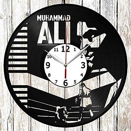 Muhammad Ali Vinel Record Wall Clock Home Art Decor Original Gift Unique Design Handmade Vinyl Clock