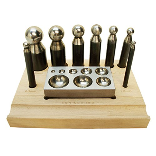 10 PC Set Jeweler Jewelry Dapping Block Doming Punch Puncher Metal Craft Forming by Generic (Image #3)